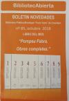 """""""Pompeu Fabra. Obres completes"""" es el libro del mes de octubre de la Biblioteca """"Enric Valor"""""""