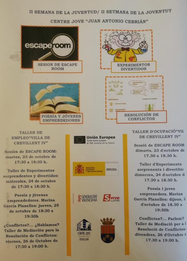 """Los alumnos del Taller de Empleo """"Villa de Crevillent IV"""" organizan varias actividades de la II Semana de la Juventud"""