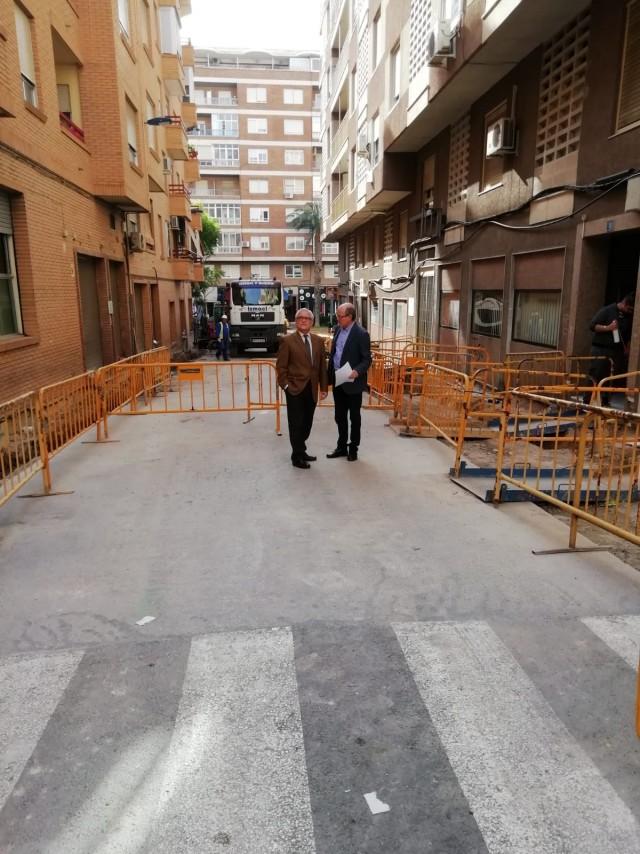 El Ayuntamiento de Crevillent inicia las obras de acondicionamiento de las calles Jaime Balmes y San Jaime y varios Caminos en San Felipe Neri