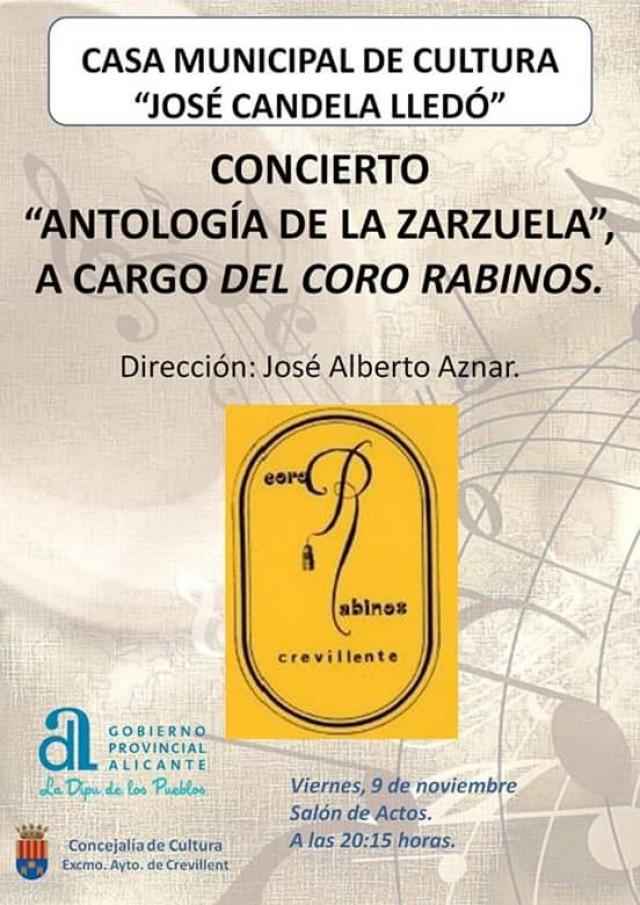"""La Casa Municipal de Cultura acoge este viernes el concierto """"Antología de la Zarzuela"""", a cargo del Coro Rabinos"""