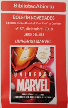 """""""Universo Marvel"""" es el libro del mes de diciembre de la Biblioteca """"Enric Valor"""""""