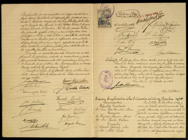 """El documento destacado del mes de diciembre del Archivo Municipal """"Clara Campoamor"""" se refiere al pleno celebrado en 1918 con motivo de la epidemia de gripe en Crevillent"""