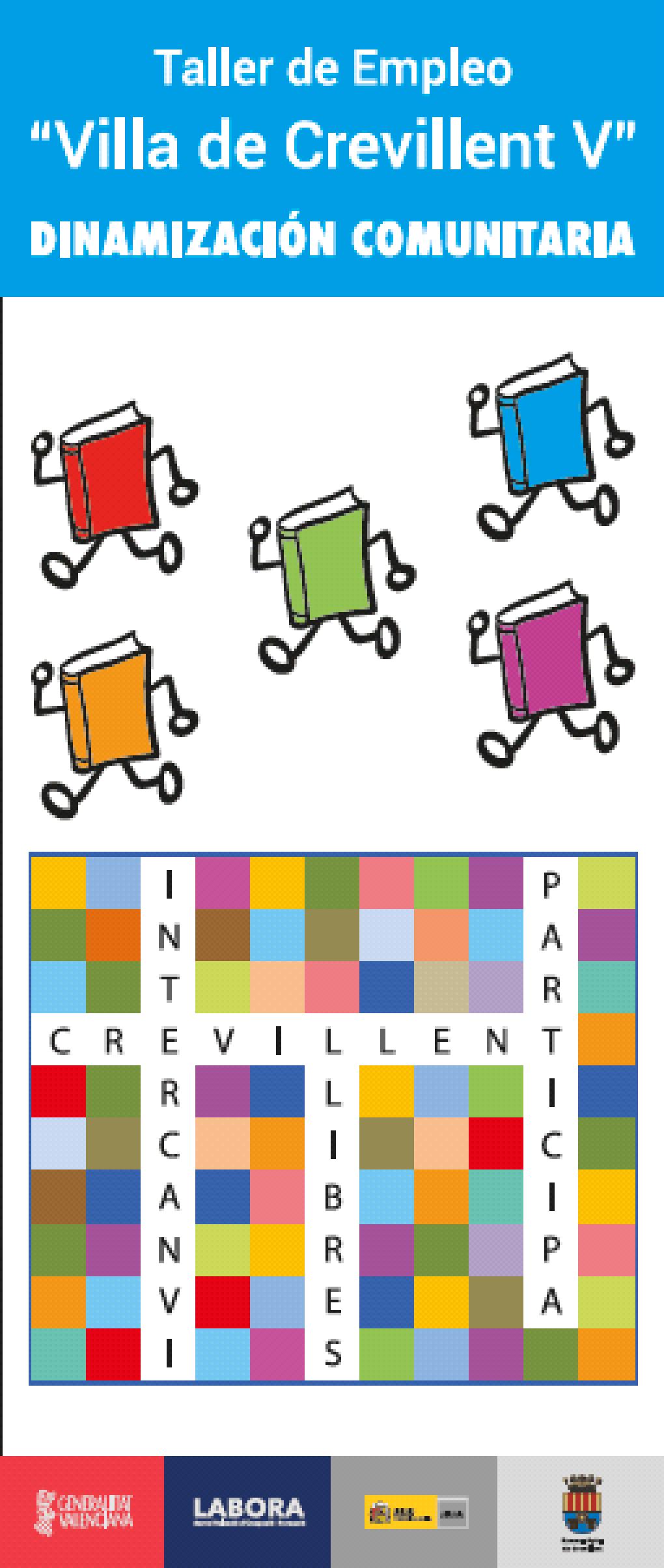 """Los alumnos-trabajadores del Taller de Empleo """"Villa de Crevillent V"""" organizan la actividad """"Intercanvi de Llibres"""" en el mercadillo de la Rambla"""