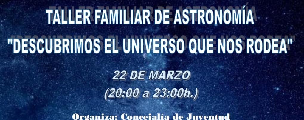 La Concejalía de Juventud organiza un taller familiar de astronomía en el Centro Medioambiental Los Molinos