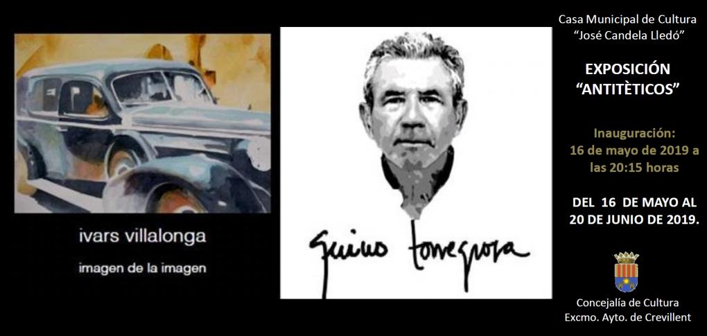 """La Casa de Cultura acoge la exposición """"Antitèticos"""", de los artistas Quino Torregrosa y José Mª Ivars Villalonga"""