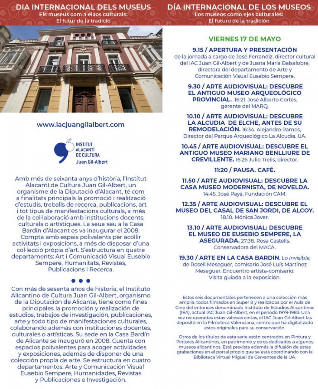 El director del Museo Mariano Benlliure participará en una jornada sobre los museos provinciales más importantes de los años 70, organizada por el Instituto Alicantino de Cultura Juan Gil-Albert