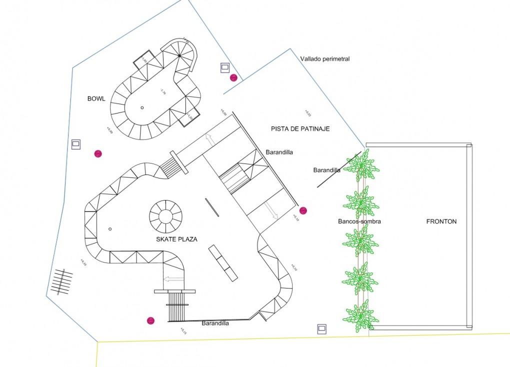 El Ayuntamiento saca a contratación las obras de un Skateplaza, una pista para la práctica del skateboard y el patinaje