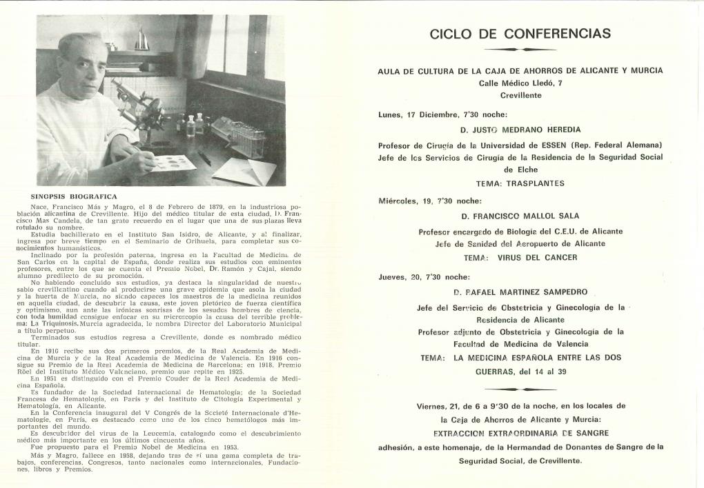 El 140 aniversario del nacimiento del Dr. Mas magro es el documento destacado por el Archivo Municipal en el mes de mayo