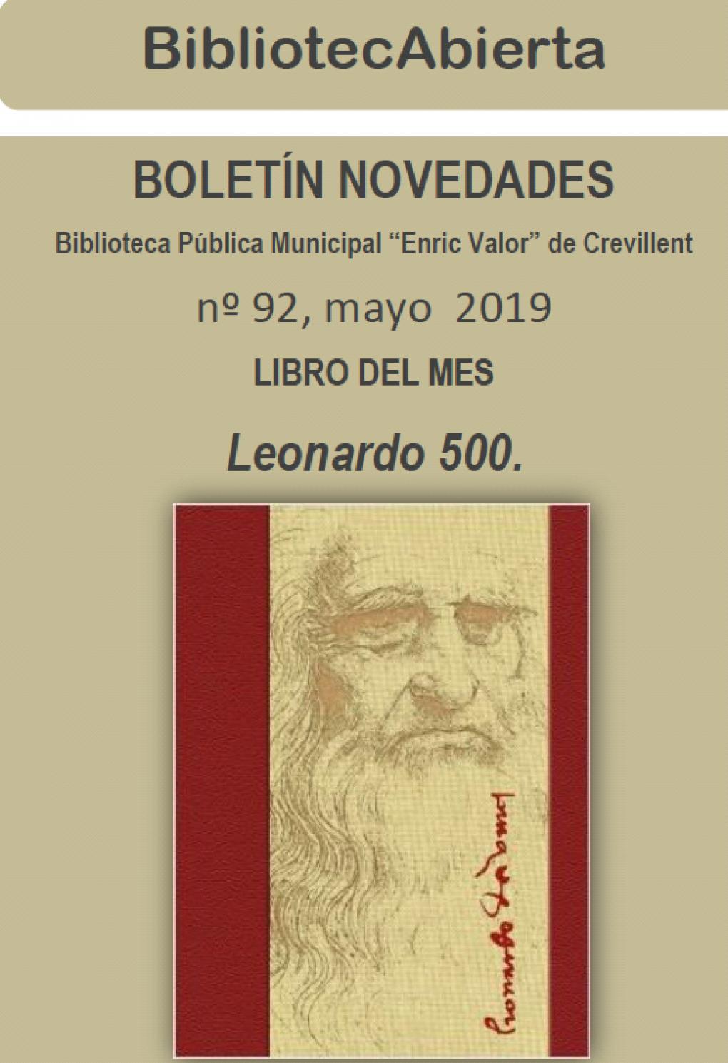 """Leonardo 500 es el libro del mes de mayo de la Biblioteca """"Enric Valor"""""""