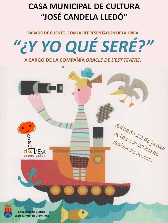 """La Casa Municipal de Cultura acoge la actividad """"Sábado de Cuento"""", con la representación de """"I jo qué seré?"""""""