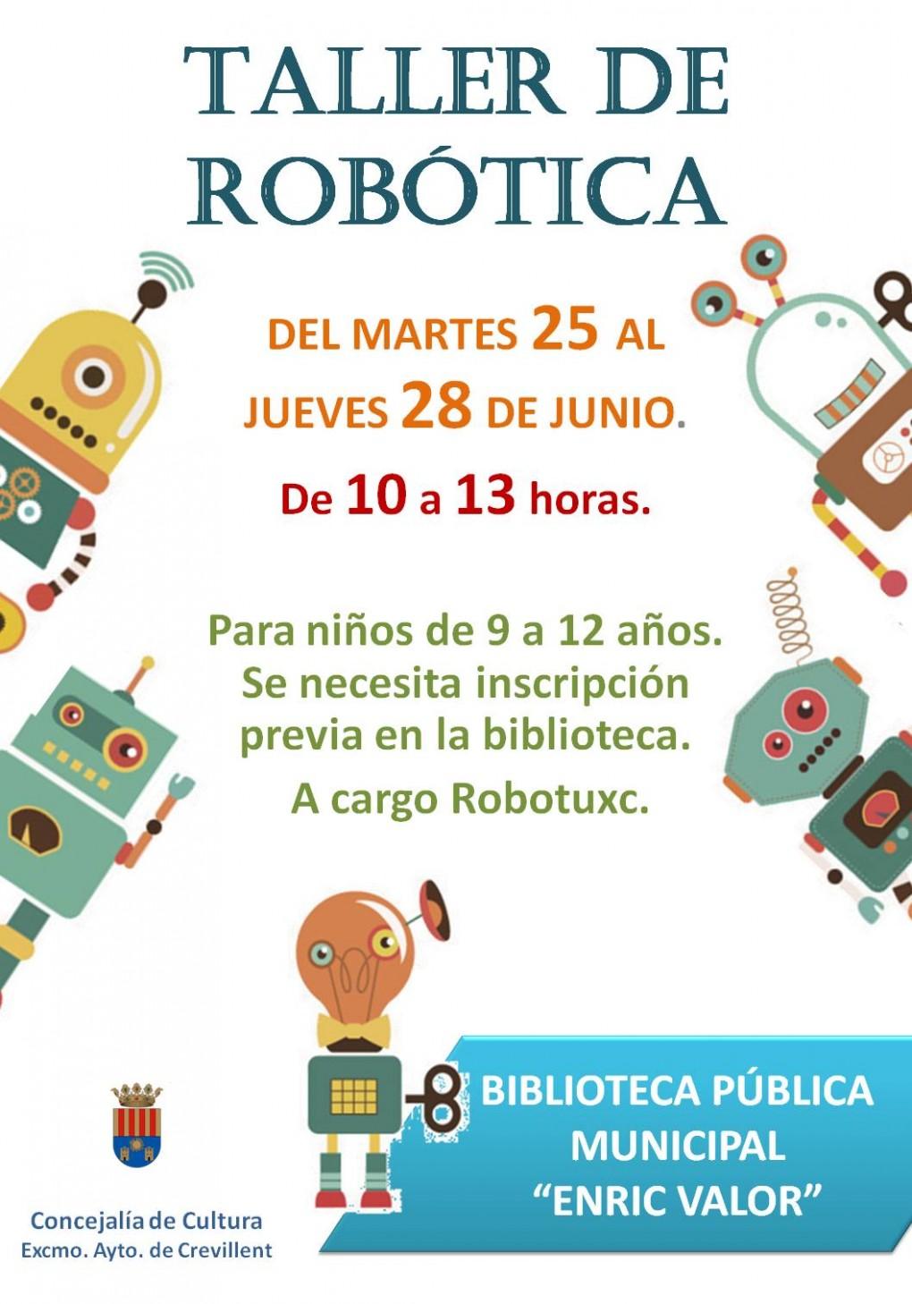 La Concejalía de Cultura organiza un taller de robótica para niños de entre 9 y 12 años