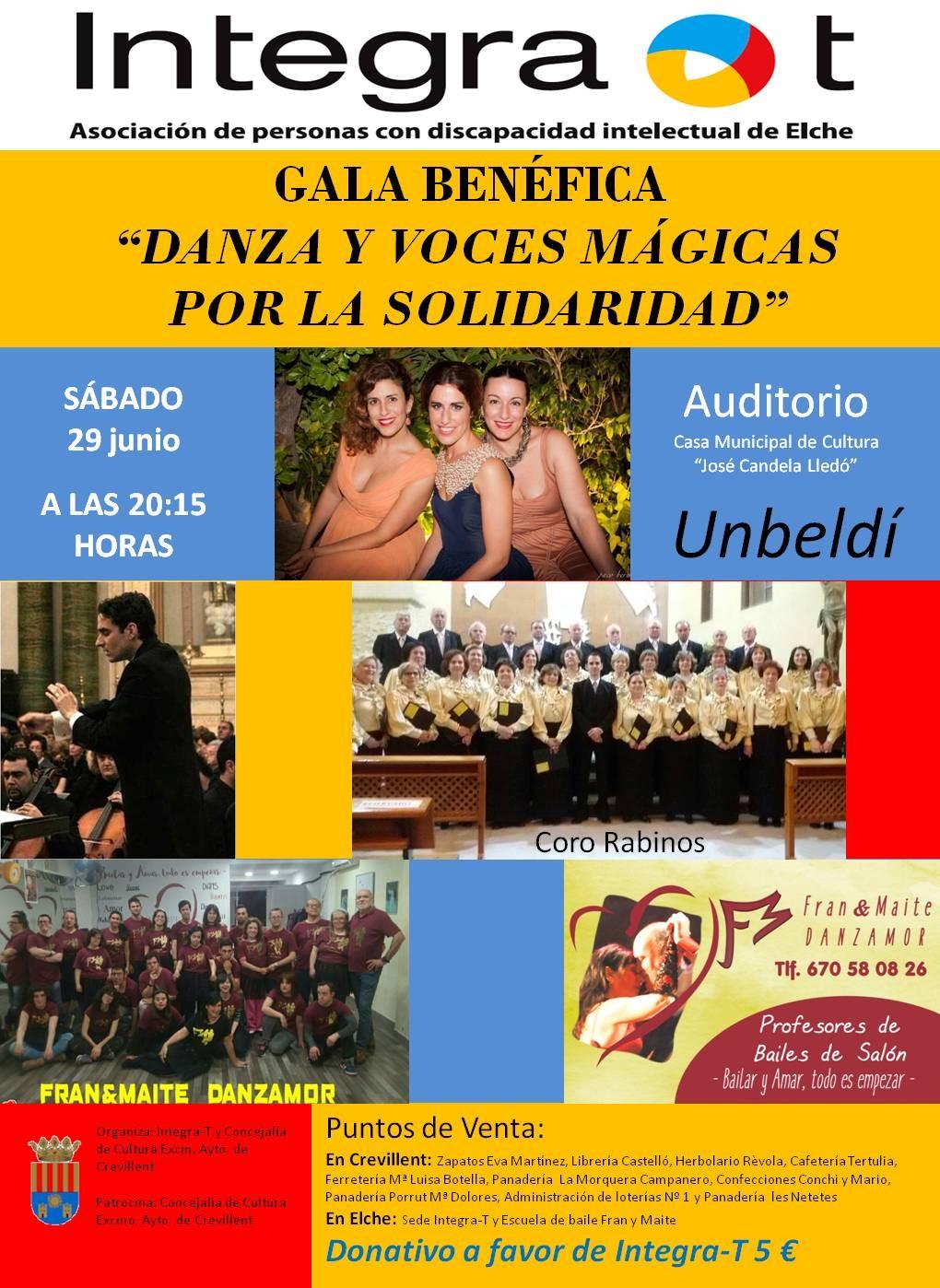 """La gala benéfica """"Danza y Voces Mágicas por la solidaridad"""" se celebrará este sábado en el Auditorio de la Casa Municipal de Cultura"""