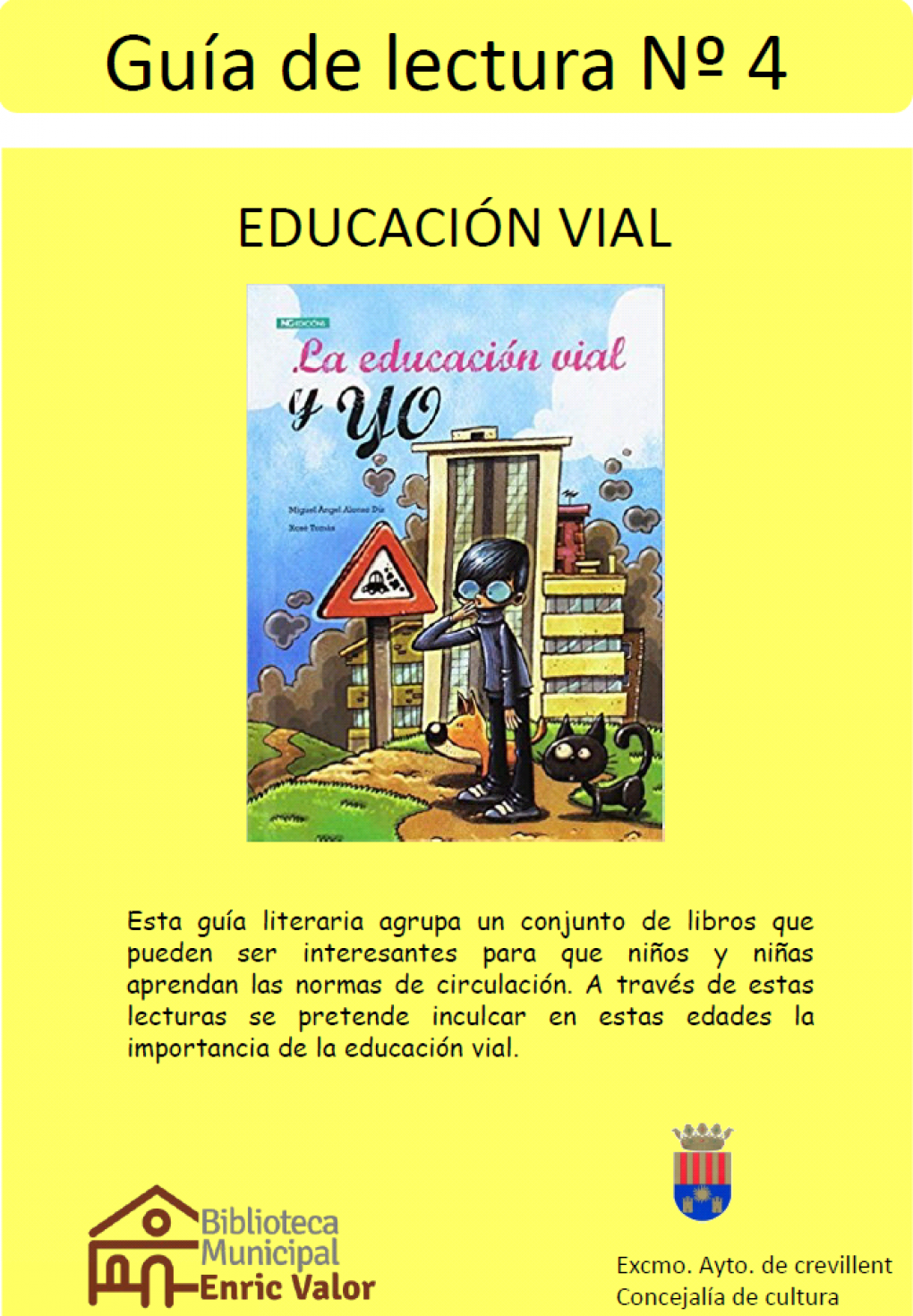 """La Biblioteca Municipal presenta la Guía de Lectura nº4 """"Educación Vial"""""""