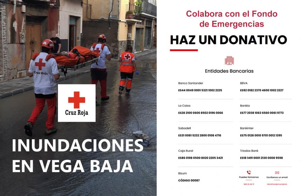 Comunicado del Ayuntamiento de Crevillent 15/09/2019 (15:00): Se habilita canal oficial para colaborar con el fondo de Emergencias