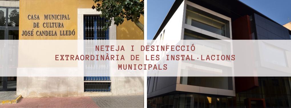 Neteja i desinfecció extraordinària de les instal·lacions municipals