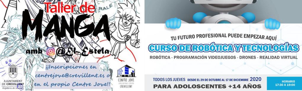 La Concejalía de Juventud ofrece nuevos  talleres de robótica y manga