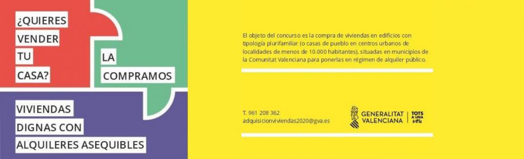 Habitatge: Campanya de compra d'habitatges a particulars de la Generalitat