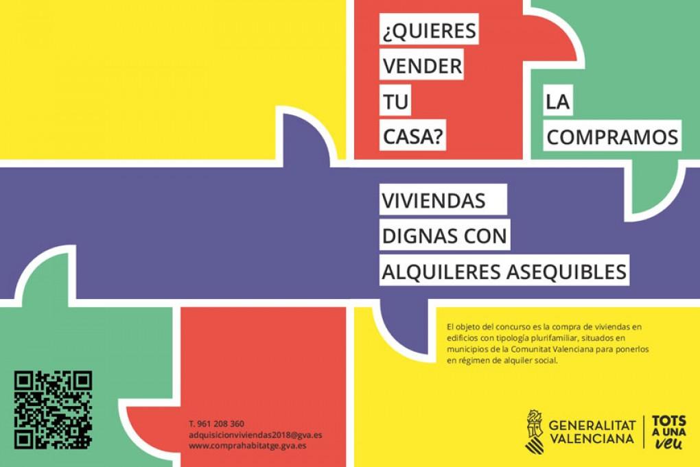 La Regidoria d'Habitatge presenta 9 habitatges al concurs de compravenda de la Generalitat Valenciana