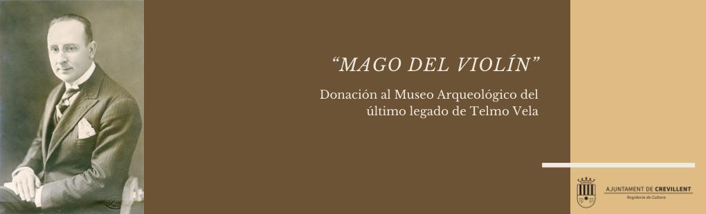 Donació al Museu Arqueològic de l'últim llegat de Telmo Vela