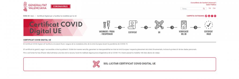 Ja es pot sol·licitar el Certificat Covid Digital per a viatjar per la Unió Europea