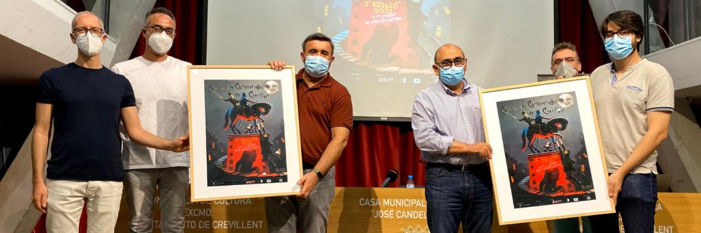 Un cartell amb homenatge i personatges dels inicis del cinema per al Certamen de Curts de Crevillent