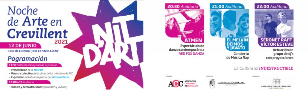 La Nit d'Art arriba aquest dissabte a la Casa de Cultura de Crevillent