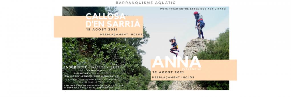 Joventut organitza dos dies de barranquisme aquàtic per al mes d'agost