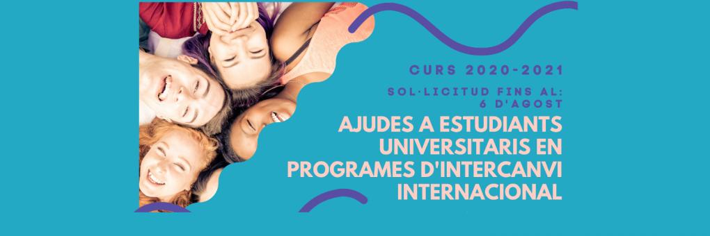 Ja es poden sol·licitar les ajudes a estudiants universitaris amb beques en programes d'intercanvi internacional