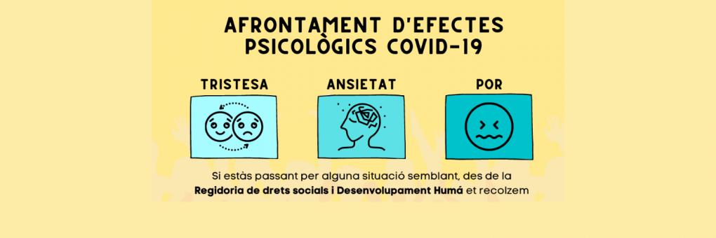 L'Ajuntament posa en marxa un programa d'atenció psicològica enfront dels efectes post Covid-19