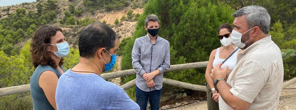 La Conselleria d'Emergència Climàtica i Transició Ecològica visita el CEMA Els Molins i l'arboreto de Crevillent