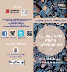 Cartel curso de verano valenciano 2019