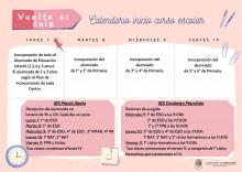 foto horario inicio curso castellano